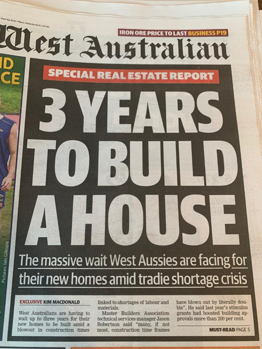 3 Years To Build a House